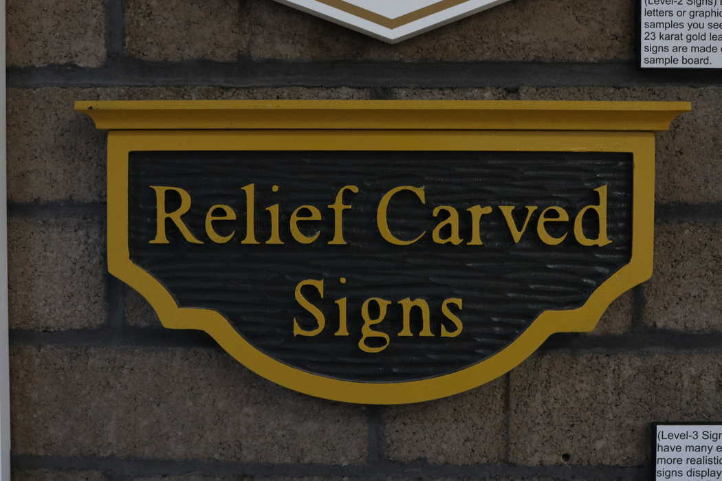 Relief carved signage by easy sign cnc routed signs